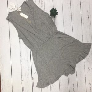 Grey romper with Phoenix necklace